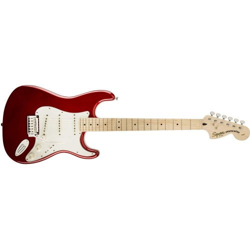 Fender Squier 321602509 Standard Stratocaster Maple Fingerboard Electric Guitar - Candy Apple Red