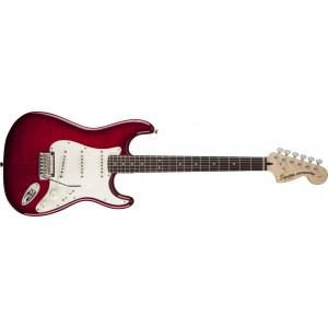 Fender Squier 321670538 Standard Stratocaster FMT Rosewood Fingerboard Electric Guitar - Crimson Red Transparent