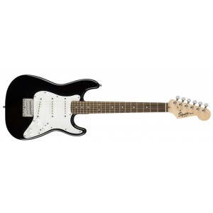 Fender Squier 370121506 Mini Bullet Stratoaster Indian Laurel Fingerboard Electric Guitar - Black
