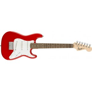 Fender Squier 370121558 Mini Bullet Stratoaster Indian Laurel Fingerboard Electric Guitar - Torino Red