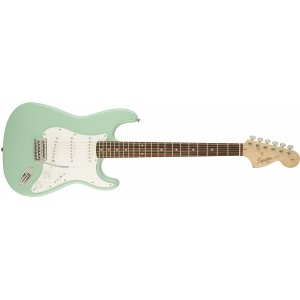 Fender Squier 370600557 Affinity Series Stratocaster Electric Guitar Laurel Fingerboard - Surf Green