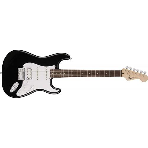 Fender Squier 371005506 Bullet Stratocaster Beginner Hard Tail Electric Guitar HSS - Black