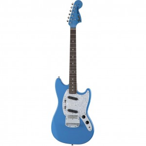 Fender MIJ Traditional '70s Mustang, Matching Head, Rosewood, California Blue